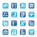 Human resource and employment icons vector icon set Royalty Free Stock Photography