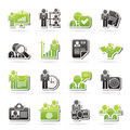 Human resource and employment icons vector icon set Royalty Free Stock Photos
