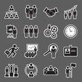 Human resource icon set of Royalty Free Stock Photo