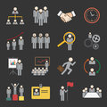 Human resource icon set of Stock Photography
