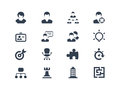 Human resource icons easy to edit and manipulate Royalty Free Stock Images