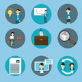 Human resource management business icon set training Royalty Free Stock Photo