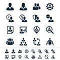 Human resource management icons simple clear and sharp easy to resize no transparency effect eps file Stock Photos