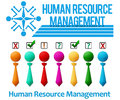 Human resource management set of banners Stock Photography