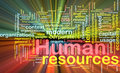Human resources background concept glowing Royalty Free Stock Photography