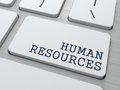 Human resources business concept button on modern computer keyboard Royalty Free Stock Images