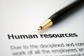 Human resources close up of Royalty Free Stock Image