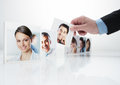 Human resources concept portraits of a group of business people Stock Photography