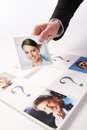 Human resources concept portraits of a group of business people Stock Image