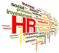 Human resources concept in tag cloud hr on white background Royalty Free Stock Images