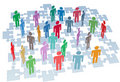 Human resources connection puzzle pieces network