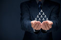 Human resources corporate hierarchy and multilevel marketing concept Stock Image