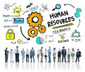 Human resources employment job teamwork business corporate concept Stock Photo