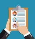 Human resources, employment, team management flat illustration concepts.