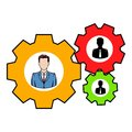 Human resources icon, icon cartoon