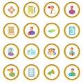 Human resources icons circle