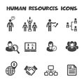 Human resources icons mono vector symbols Royalty Free Stock Photography