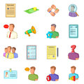 Human resources icons set, flat style