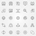 Human resources icons set