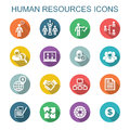 Human resources long shadow icons Royalty Free Stock Photo