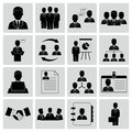 Human resources and management icons vector illustration of Royalty Free Stock Images