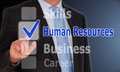 Human Resources - Manager with touchscreen buttons Royalty Free Stock Photo