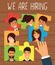 Human resources, recruiting concept
