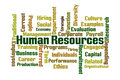 Human resources word cloud on white background Stock Images