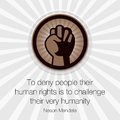 Human rights day poster quotes template logo Royalty Free Stock Images
