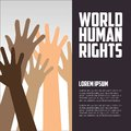Human rights day poster quotes template logo Stock Image