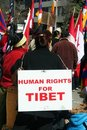 Human Rights for Tibet Royalty Free Stock Images