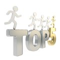 Human running symbolic figures over the words Top Five Royalty Free Stock Image