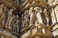 Human sculptures at vishvanatha temple western temples of khajuraho madhya pradesh india unesco world heritage site it s an and Stock Photo