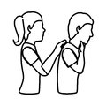 human silhouette doing resuscitation