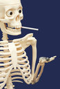 Human skeleton smoking and using drugs - death Royalty Free Stock Photo