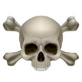 Human skull and crossbones Royalty Free Stock Photos
