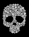 Human skull floral style ecology concept design Stock Photo