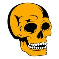 Human skull icon, icon cartoon
