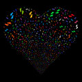 Human Steps Fireworks Heart
