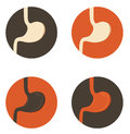 Human stomach symbol set simple symbols medical illustration bright colors Royalty Free Stock Photos