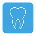 Human teeth icons set isolated for dental medicine clinic. Linear dentist logo. Vector Royalty Free Stock Photo