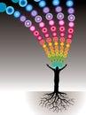 Človek strom farby