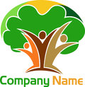 Human tree logo illustration art of a with isolated background Royalty Free Stock Photos