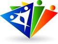 Human triangle logo