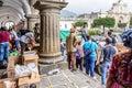 Humanitarian aid after Fuego volcano eruption, Antigua, Guatemala Royalty Free Stock Photo