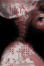 Humanoid, future medicine. Royalty Free Stock Photo