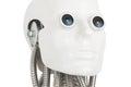 Humanoid robot head on white