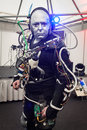 Humanoid at robot and makers show milan italy march milano event dedicated to robotics on march in milan Stock Photo