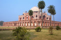 Humayun s tomb delhi india with palm trees it was the first garden on the indian subcontinent Royalty Free Stock Photography