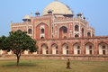 Humayun s tomb in delhi india it was the first garden on the indian subcontinent Royalty Free Stock Photo